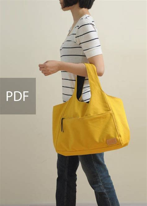 Sunny Day Canvas Bag - Bag PDF - Sewing Pattern - with