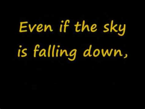sky is falling down lyrics - YouTube