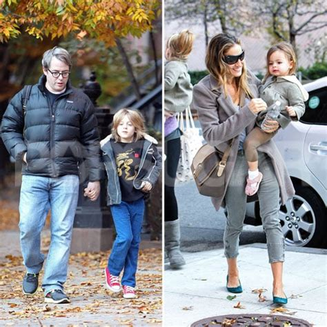 SJP & Matthew Broderick Take Kids to School in NYC