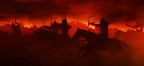 Total War: Attila Black Horse cinematic and horde