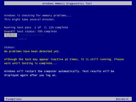 How to diagnose memory using Memory Diagnostics Tool in