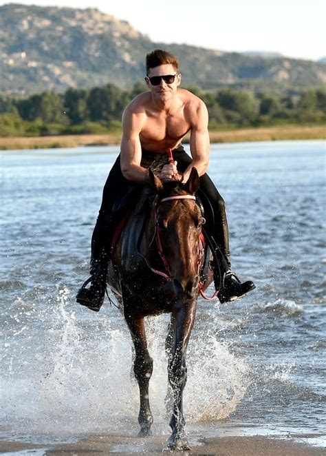 Zac Efron | Celebrities Riding Horses | Us Weekly