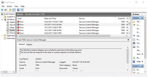 How to fix the service control manager event ID 7000 logon