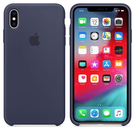 Apple iPhone XS Max Silicone case Midnight Blue - iWay