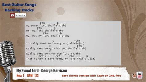 My Sweet Lord - George Harrison Vocal Backing Track with