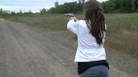 Little Girl with Big Gun - Smith & Wesson S&W 460 Revolver