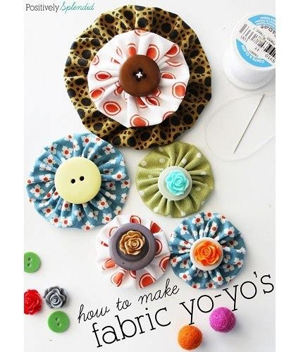Tutorial: How to make fabric yo yos, plus a template – Sewing