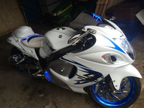 Custom Suzuki Hayabusa with 240 kit anodized wheels low