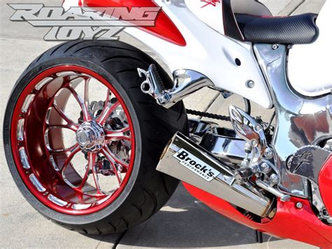 2018 Hayabusa with Chrome 300 Single Sided Swingarm Kit