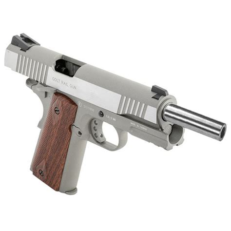 Colt 1911 Airsoft Pistol - Silver with Wood Grips
