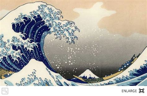 The Great Wave off shore at Kanagawa is by Japanese artis